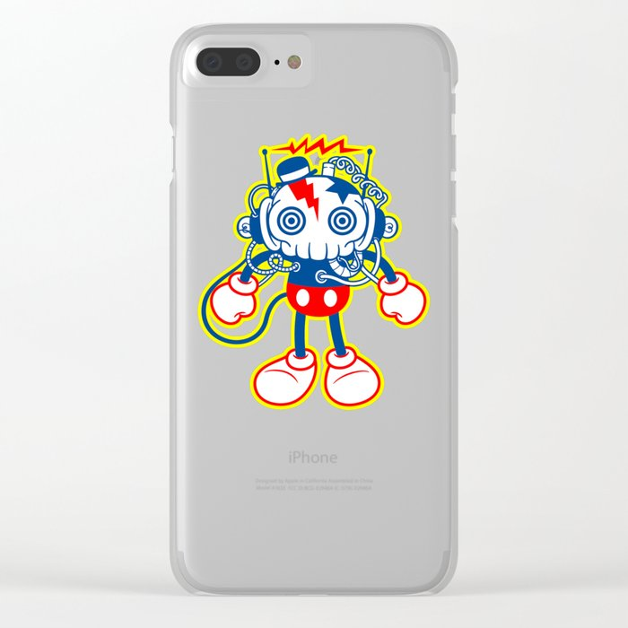 skull bolt Clear iPhone Case