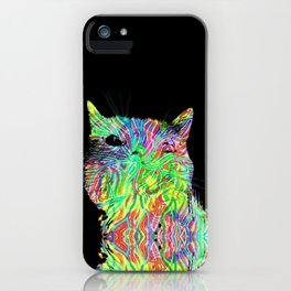 Psychedelic Cat iPhone Case