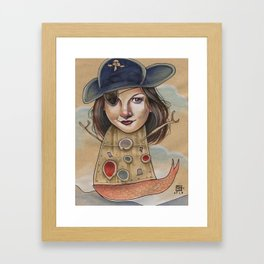PIRATE ROBOT MERMAID Framed Art Print