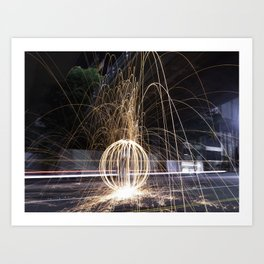 Fire In The Streets Art Print