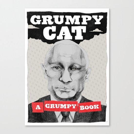 GRUMPY AS THE CAT  Canvas Print