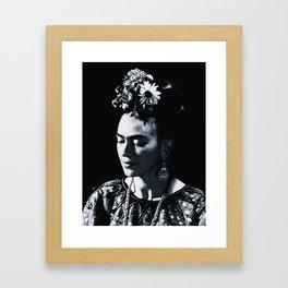 Frida Kahlo Darkness Framed Art Print