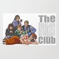 the breakfast club Area & Throw Rugs featuring The Breakfast Club by Heidi Banford