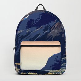 Badlands Peach Sky retro poster Backpack