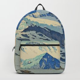 The Jungfrau Vintage Beautiful Japanese Woodblock Print Hiroshi Yoshida Backpack