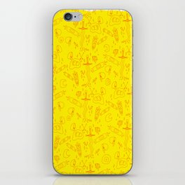 Eggy Knives Lineart iPhone Skin