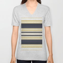 Nautical Stripes Pattern Unisex V-Neck