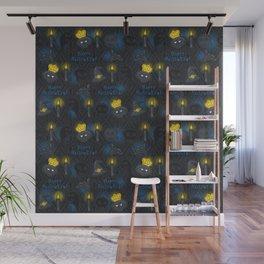 Hallooween doodles seamless pattern Wall Mural