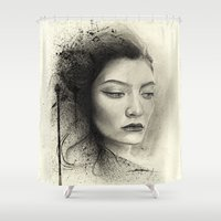 lorde Shower Curtains featuring Lorde by Creadoorm