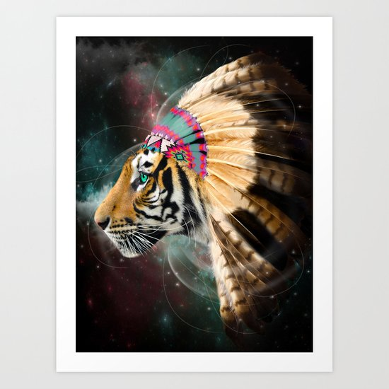 Fight For What You Love (Chief of Dreams: Tiger) Tribe Series Art Print