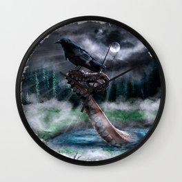Poe´s Raven & Lovecraft´s Creature Wall Clock