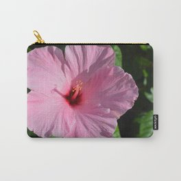 Delicate Pink Hibiscus Carry-All Pouch