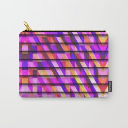 Stepped Abstract Pattern Carry-All Pouch