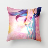 body Throw Pillows featuring Body by haroulita
