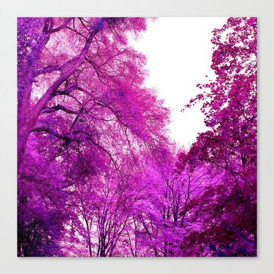 purple trees II Canvas Print