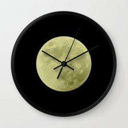 CANARY MOON // BLACK SKY Wall Clock