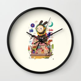 Space rabbit Wall Clock