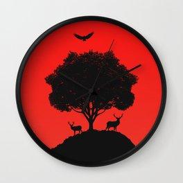Red Sun v2 Wall Clock