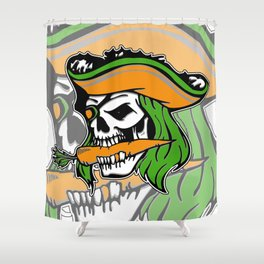 Pirate + Carrot = PAROT Shower Curtain