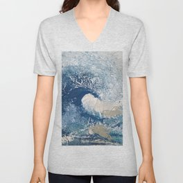 The Great Wave Abstract Ocean Unisex V-Neck