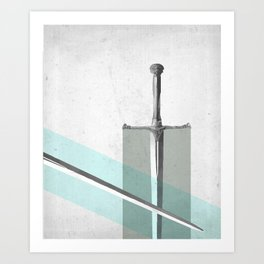 SWORD FIGHT Art Print