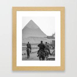 Pyramid of Giza - Egypt Framed Art Print