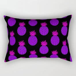 Purple Disco Pineapples Rectangular Pillow