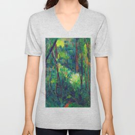 Paul Cezanne Interior of a Forest Unisex V-Neck