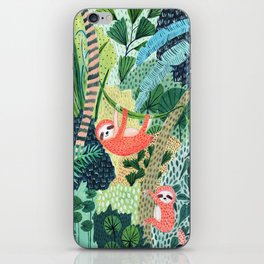 Jungle Sloth Family iPhone Skin