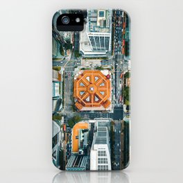 Aerial Cityscape View (Color) iPhone Case
