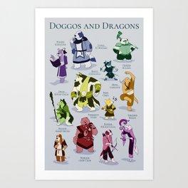 Doggos and Dragons Art Print