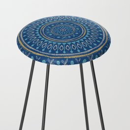Astral Lullaby in Blue Counter Stool
