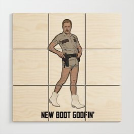 New Boot Goofin' Wood Wall Art