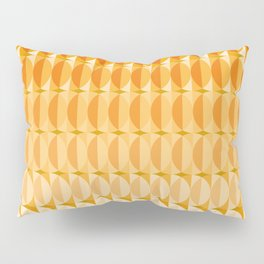 Leaves at autumn - a pattern in orange and brown Pillow Sham