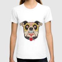 pit bull T-shirts featuring Pit Bull Sugar Skull by Granman