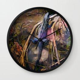 Tropical Iguana Wall Clock