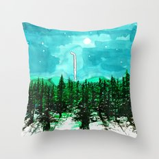 Night Walk Throw Pillow