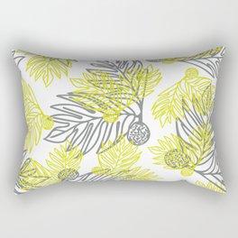 Ulu Forest Green and Grey Rectangular Pillow