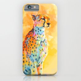 Wild Grace - Cheetah digital painting iPhone Case