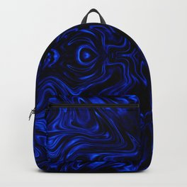 Psychedelic Blue Flow Backpack