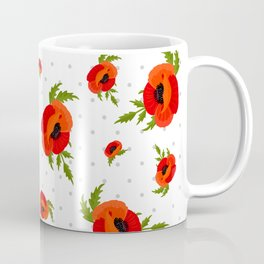 Poppy Flowers Pattern Coffee Mug