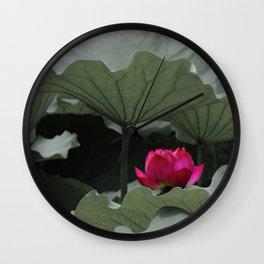 Nature's Pink Wall Clock