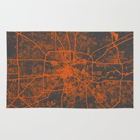 houston Area & Throw Rugs featuring Houston map by Map Map Maps