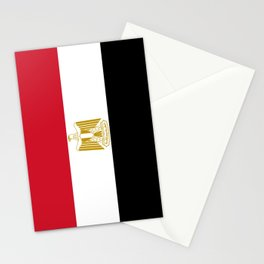 flag of egypt- Egyptian,nile,pyramid,pharaon,cleopatra,moses,cairo,alexandria. Stationery Cards