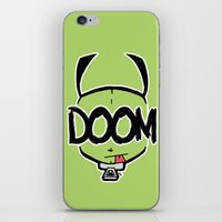doom iPhone & iPod Skins featuring DOOM by Oddworld Art