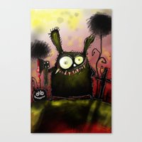 creepy Canvas Prints featuring creepy by Katja Main