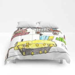 Construction Frenzy Comforters