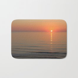 Symphony in Orange Ocean Sunrise Bath Mat