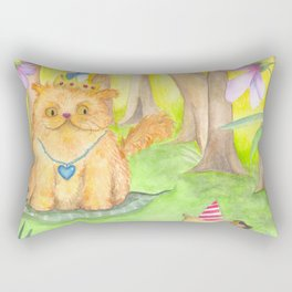 Magical Forest and the King Cat Rectangular Pillow