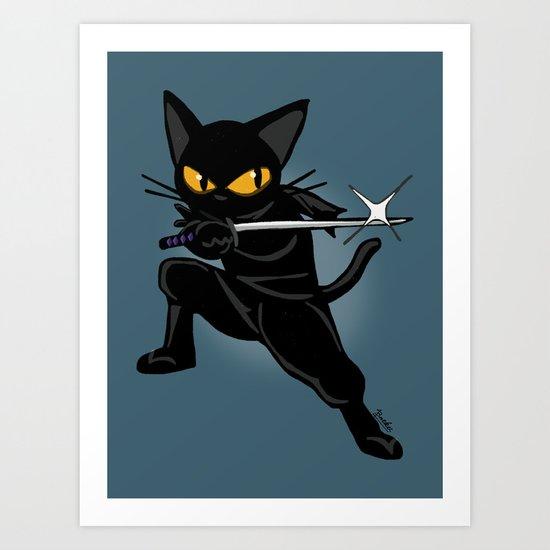 Ninja! Art Print